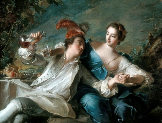 Jean-Marc Nattier - L'alliance de l'amour et du vin (1744)